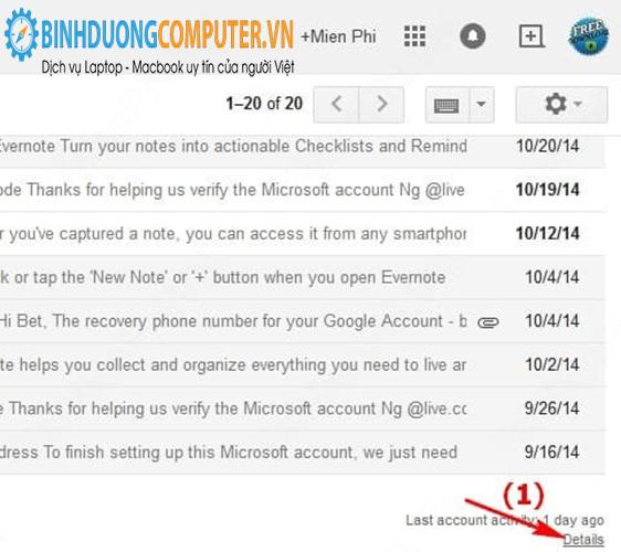 Cách đăng xuất gmail từ xa