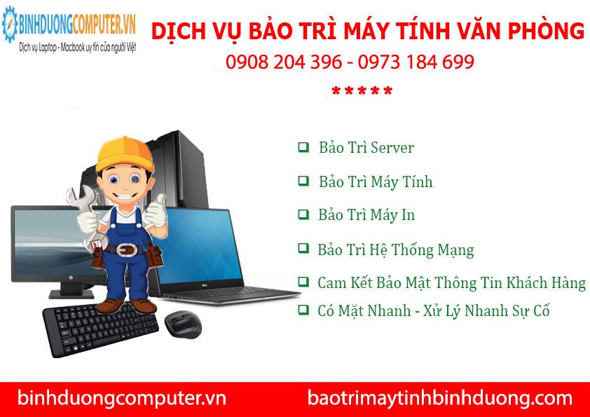 Dịch vụ bảo trì máy tính văn phòng KCN Việt Hương