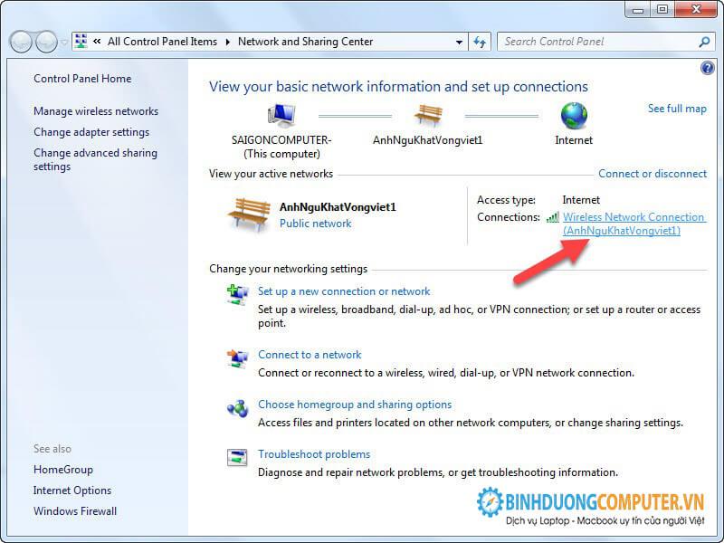 Sửa lỗi wifi chấm vàng