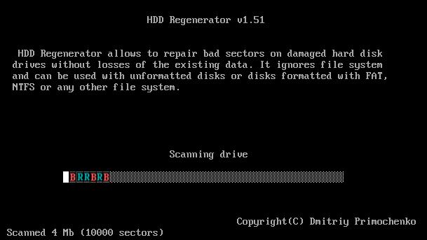 sửa ổ cứng bị bad sector