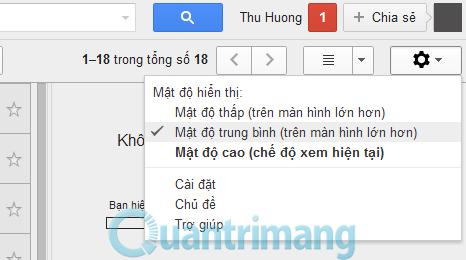 Cách thay đổi giao diện Gmail