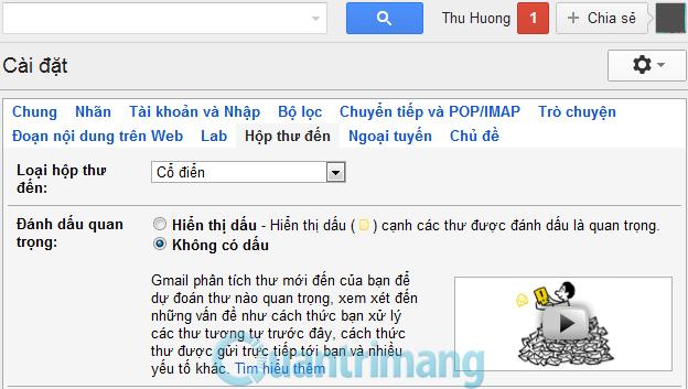 Cách thay đổi giao diện Gmail_2
