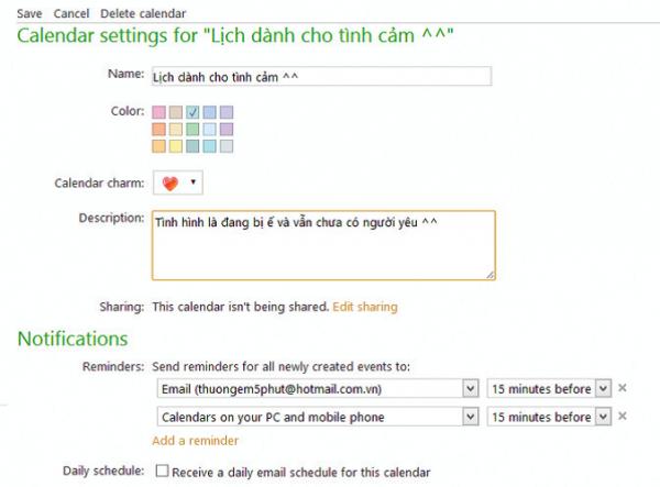 Cách quản lý thời gian hiệu quả với Calendar của Outlook.com