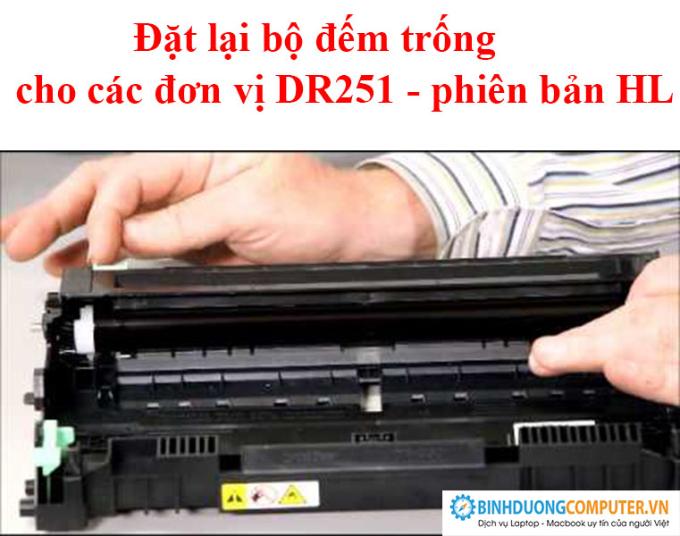 Đặt lại bộ đếm trống cho các đơn vị DR251 - phiên bản HL