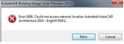 Error 1606: Could not access network location