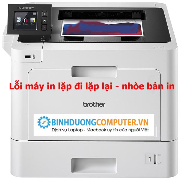 Khắc phục lỗi máy in Laser Brother HL2250DN lặp đi lặp lại nhòe bản in