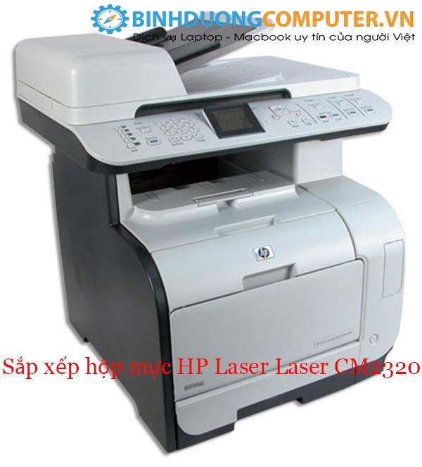 Vấn đề sắp xếp hộp mực HP Laser Laser CM2320