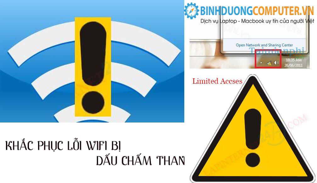 Sửa lỗi Wifi bị chấm than
