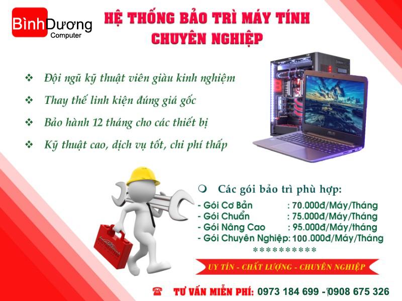 Dịch vụ bảo trì máy tính văn phòng tại kcn Việt Hương