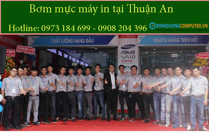 Bơm mực in tại Thuận An
