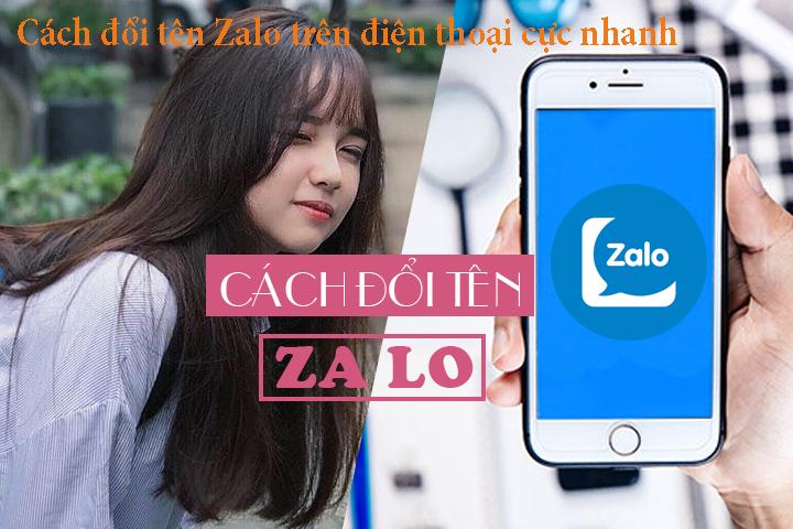 Cách đổi tên Zalo trên điện thoại cực nhanh