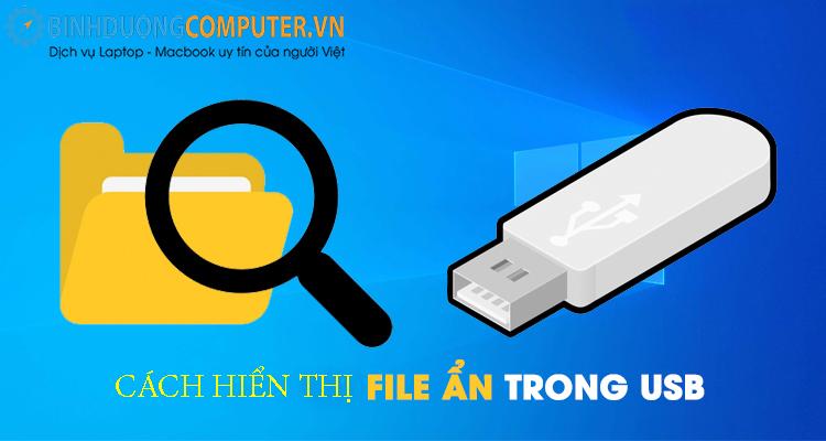 Cách hiển thị file ẩn trong USB windows 10