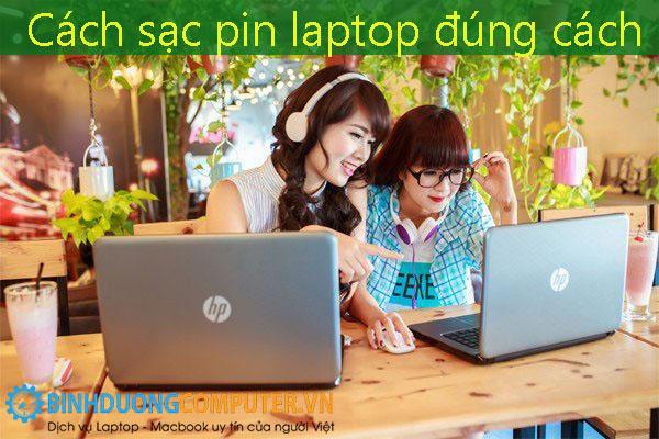 Cách sạc pin laptop đúng cách
