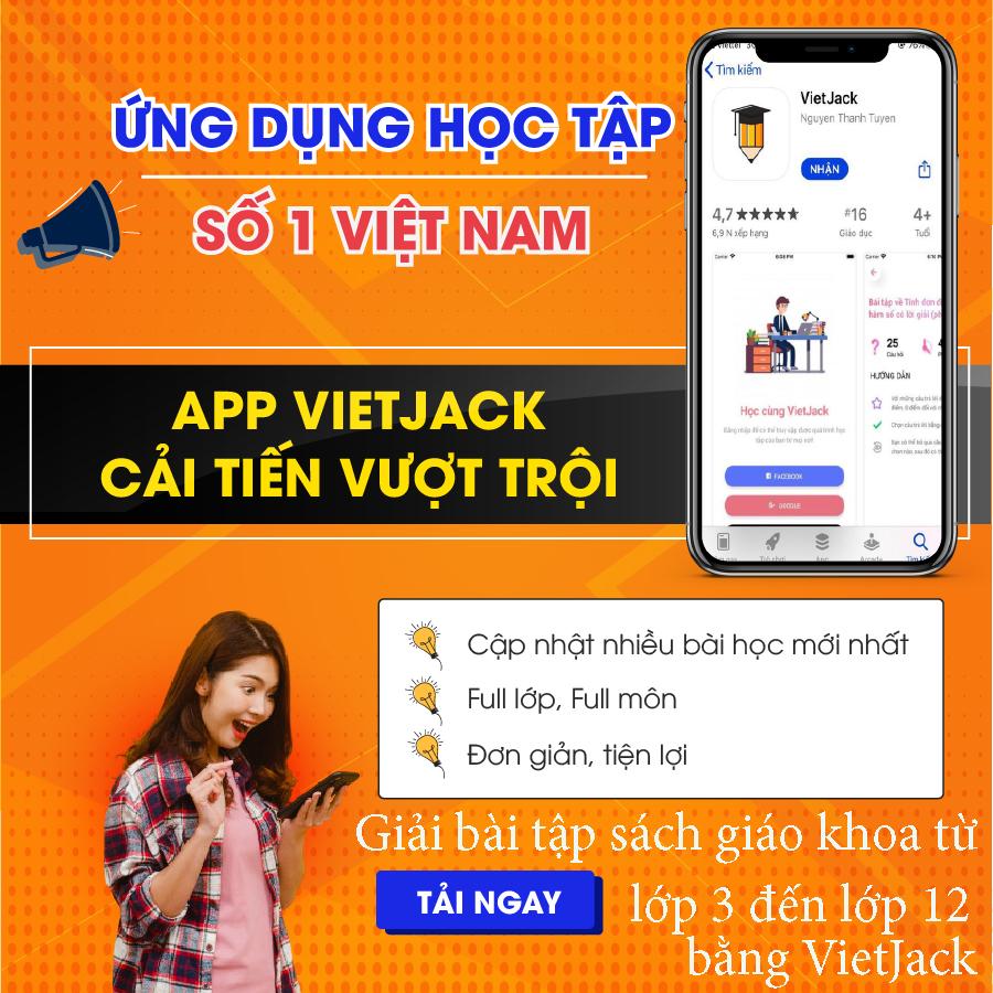 Giải bài tập sách giáo khoa từ lớp 3 đến lớp 12 bằng VietJack