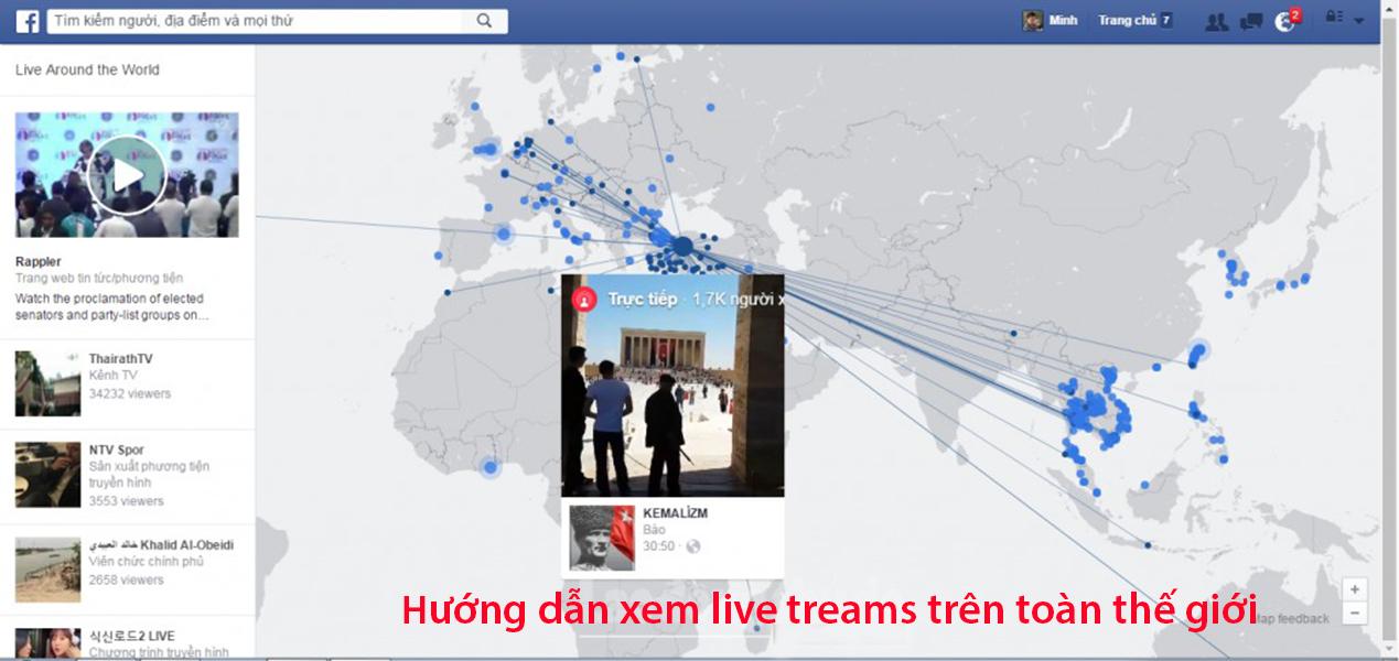 Hướng dẫn xem live stream trên toàn thế giới