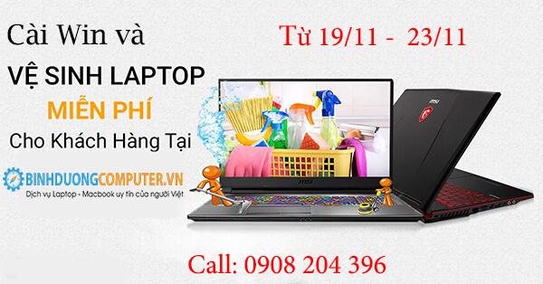 Cài Win Và Vệ Sinh Laptop, PC Miễn Phí Tại BinhDuongComputer