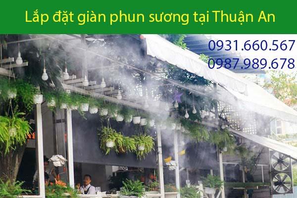 Lắp đặt giàn phun sương tại Thuận An