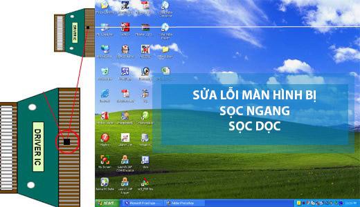 sửa màn hình máy tính bị sọc dọc