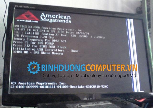Khắc phục lỗi Máy tính bị treo ngoài bios