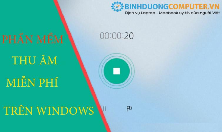 Phần mềm thu âm miễn phí trên windows