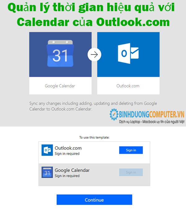 Quản lý thời gian hiệu quả với Calendar của Outlook.com