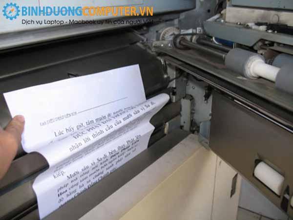 Sửa lỗi máy in in ra giấy bị nhăn