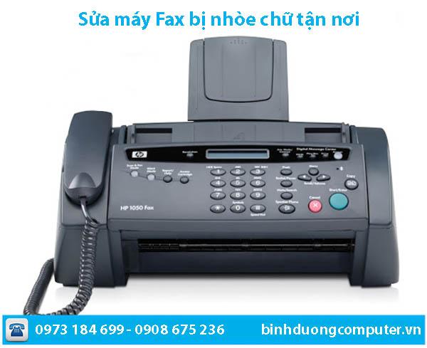 Sửa chữa máy Fax bị nhòe chữ