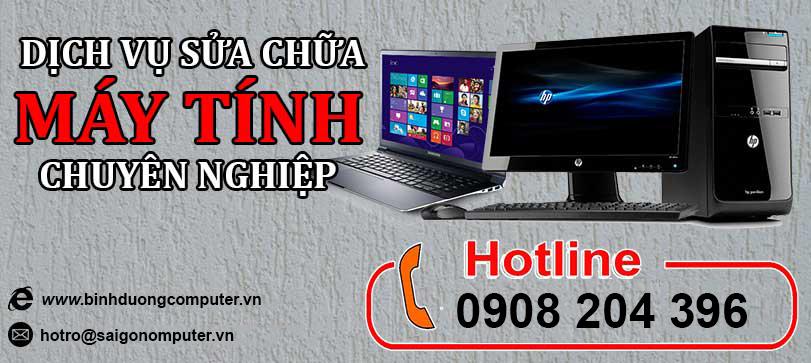 Sửa máy tính tại nhà Bình Phước