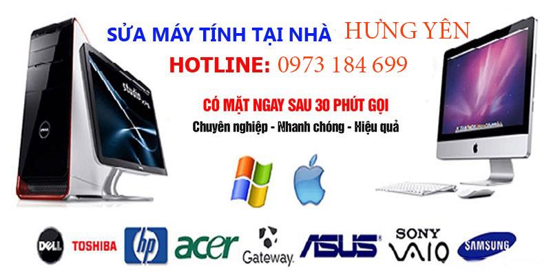 Sửa máy tính tại nhà Hưng Yên