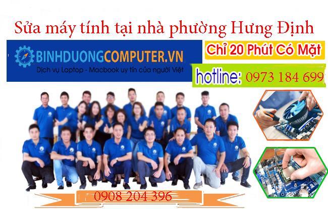 Sửa máy tính tại nhà phường Hưng Định