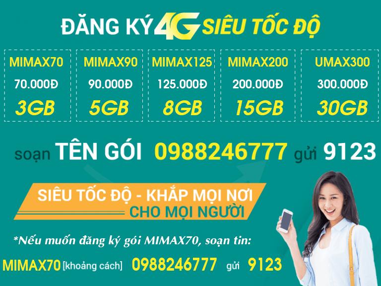 Tổng hợp các gói cước Viettel 3G/4G gói MSM và gọi điện