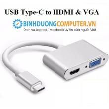 Cáp chuyển Type-C ra VGA, HDMI