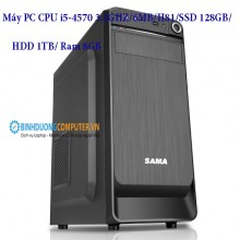 Máy PC CPU i5-4570 3.2GHZ/6MB/H81/SSD 128GB/HDD 1TB/ Ram 8GB