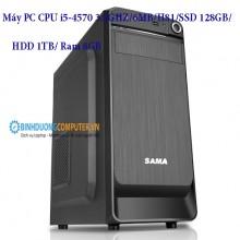 Máy PC CPU i5-4570 3.2GHZ/6MB/H81/SSD 128GB/HDD 1TB/ Ram 8GB