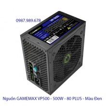 Nguồn GAMEMAX VP500 - 500W - 80 PLUS - Màu Đen