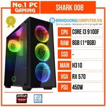 PC Gaming Shark 008 giá rẻ (i3-9100F/H310/8GB RAM/RX 570/450W)