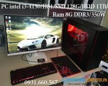 PC intel i3-4150/H81/SSD 128G/HDD 1TB/Ram 8G DDR3/350W