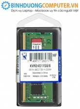 RAM Kingston 8GB DDR4 Bus 2400 MHz